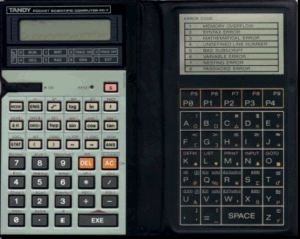BASIC programmable calculator: Radio Shack PC-7
