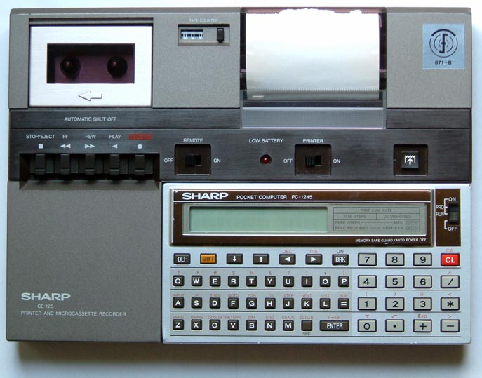 Printer: Sharp CE-125