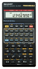 Scientific programmable calculator: Sharp EL-5020