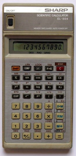 Scientific programmable calculator: Sharp EL-504