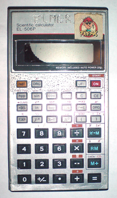 Calculator (non-programmable): Sharp EL-506P