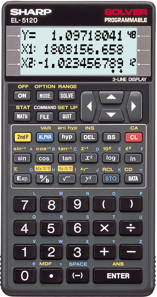 Scientific programmable calculator: Sharp EL-5120