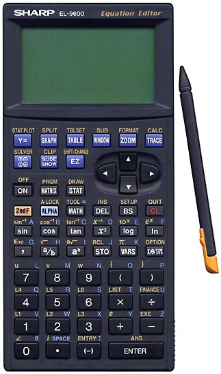Graphing calculator: Sharp EL-9600C