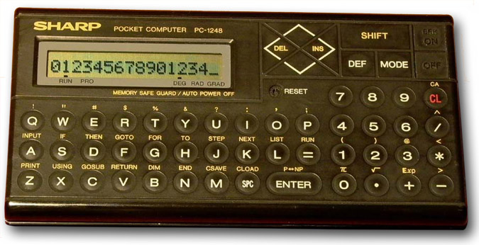 BASIC programmable calculator: Sharp PC-1248