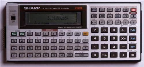 BASIC programmable calculator: Sharp PC-1403H