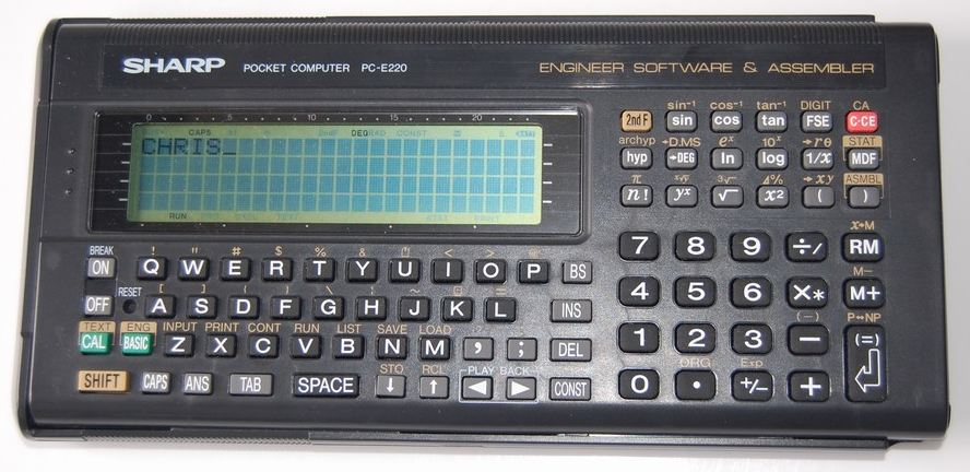 BASIC programmable calculator: Sharp PC-E220