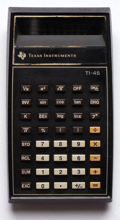 Calculator (non-programmable): Texas Instruments TI-45