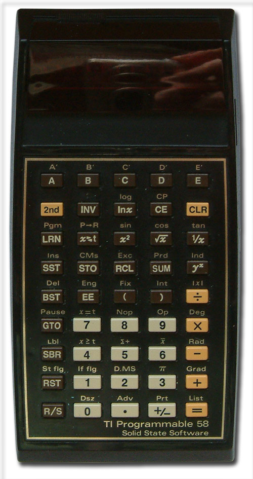 Scientific programmable calculator: Texas Instruments TI-58