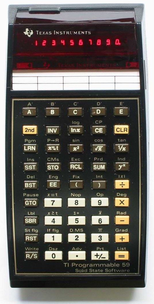 Scientific programmable calculator: Texas Instruments TI-59