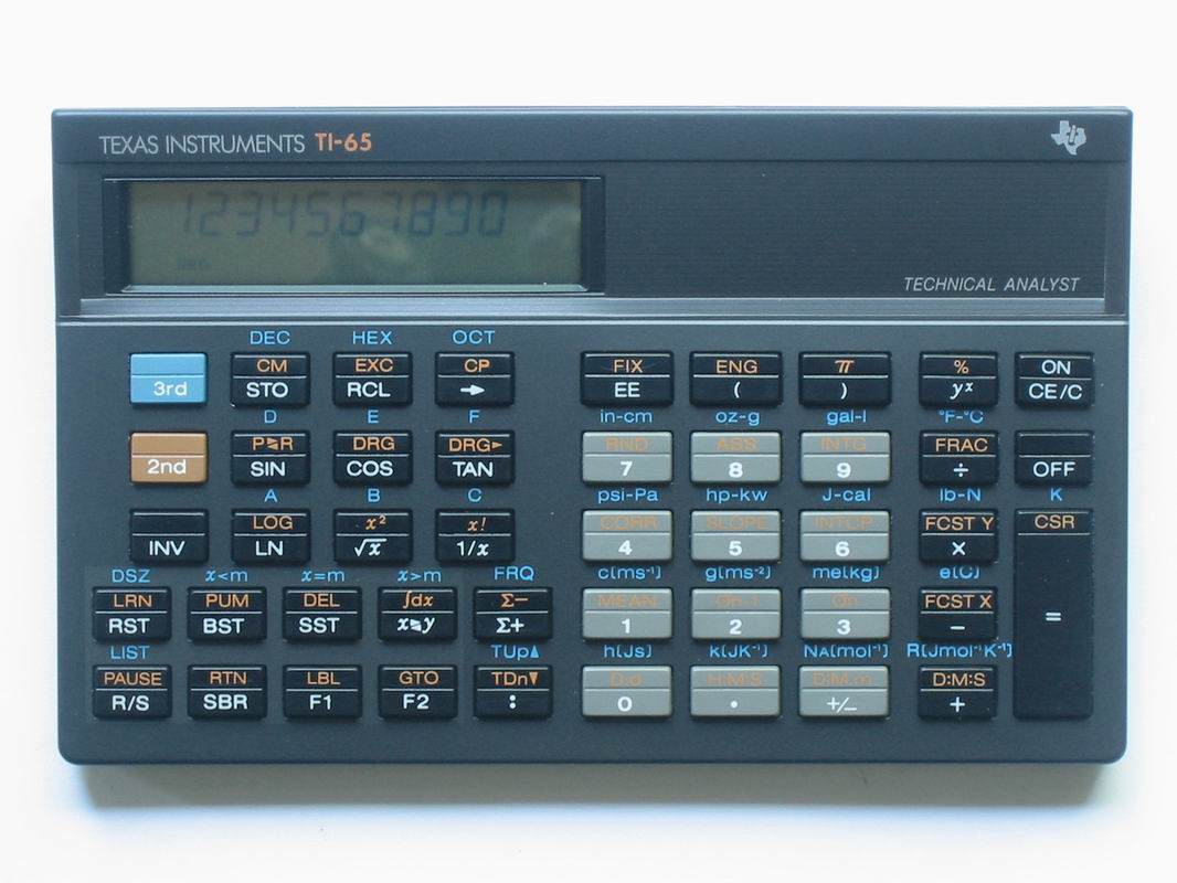 Scientific programmable calculator: Texas Instruments TI-65