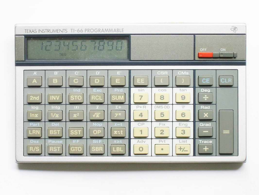 Scientific programmable calculator: Texas Instruments TI-66