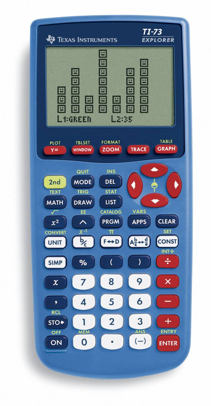Graphing calculator: Texas Instruments TI-73