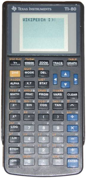 Graphing calculator: Texas Instruments TI-80