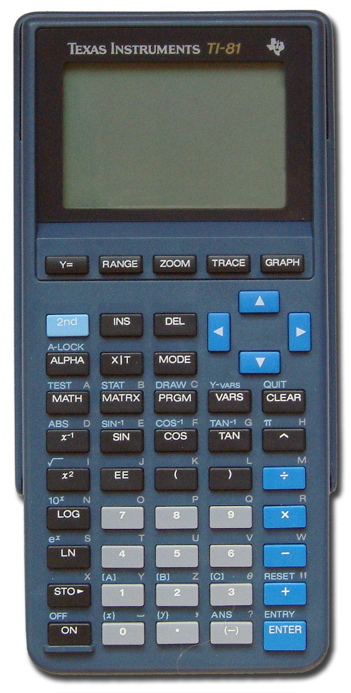 Graphing calculator: Texas Instruments TI-81