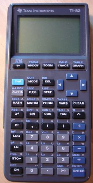 Graphing calculator: Texas Instruments TI-82