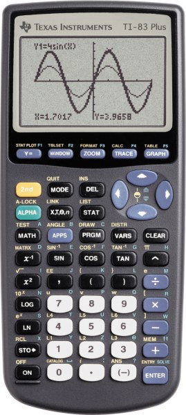 Graphing calculator: Texas Instruments TI-83 Plus