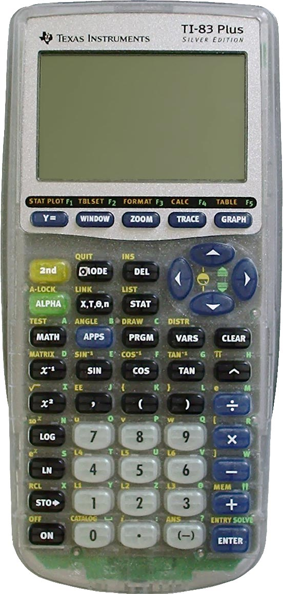 Graphing calculator: Texas Instruments TI-83 Plus Silver Edition