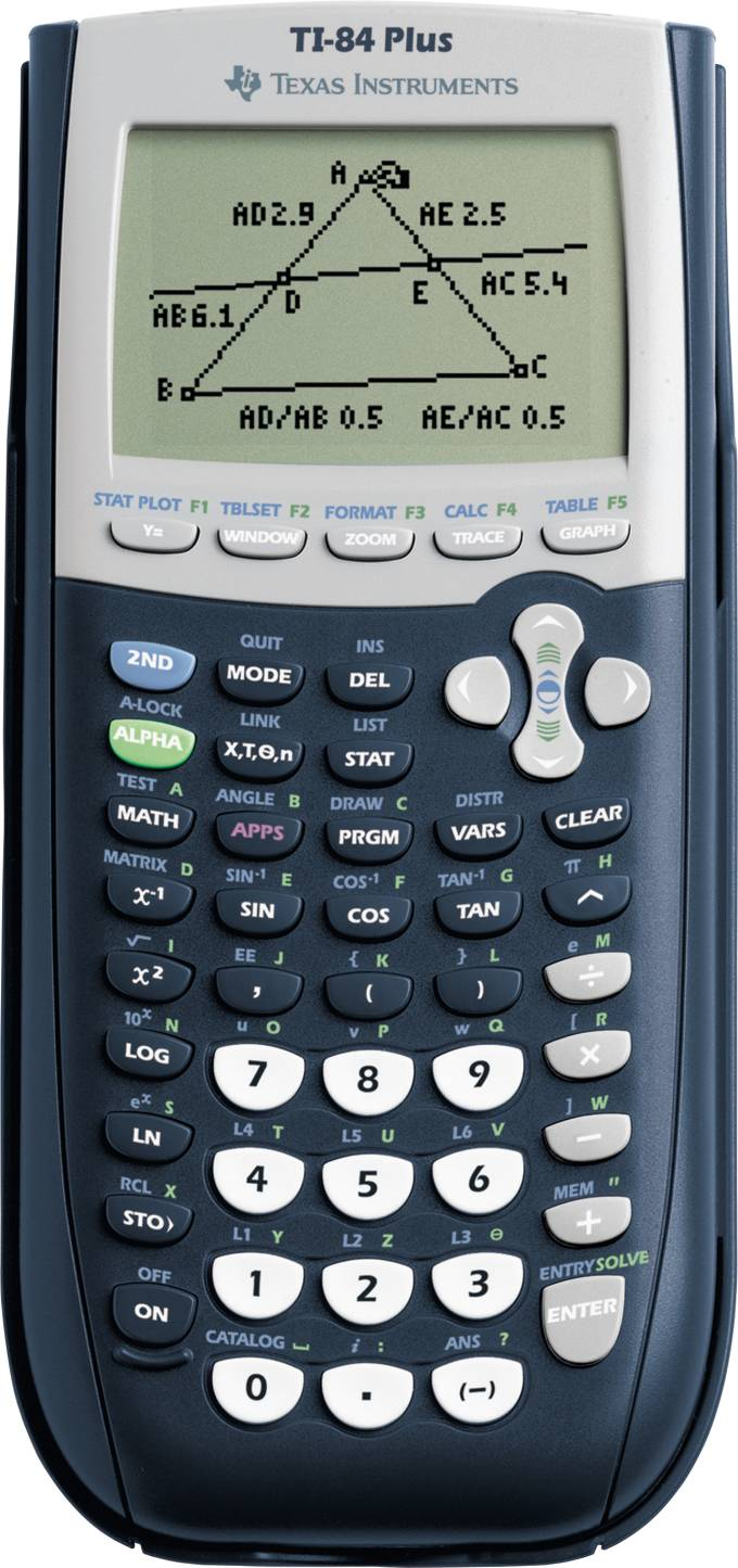 Graphing calculator: Texas Instruments TI-84 Plus