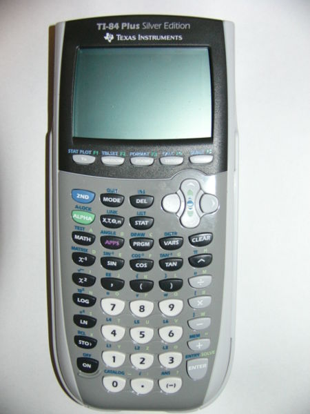 Graphing calculator: Texas Instruments TI-84 Plus Silver Edition