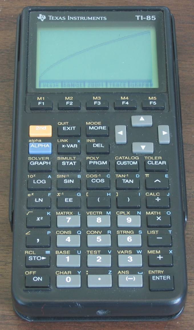 Graphing calculator: Texas Instruments TI-85