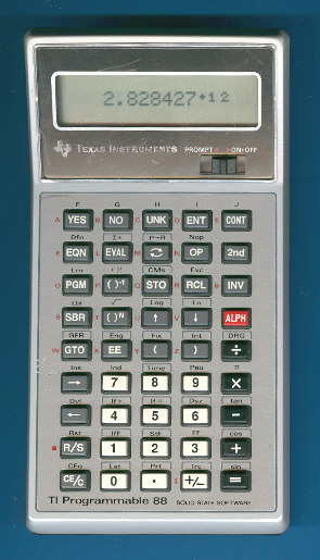 Scientific programmable calculator: Texas Instruments TI-88