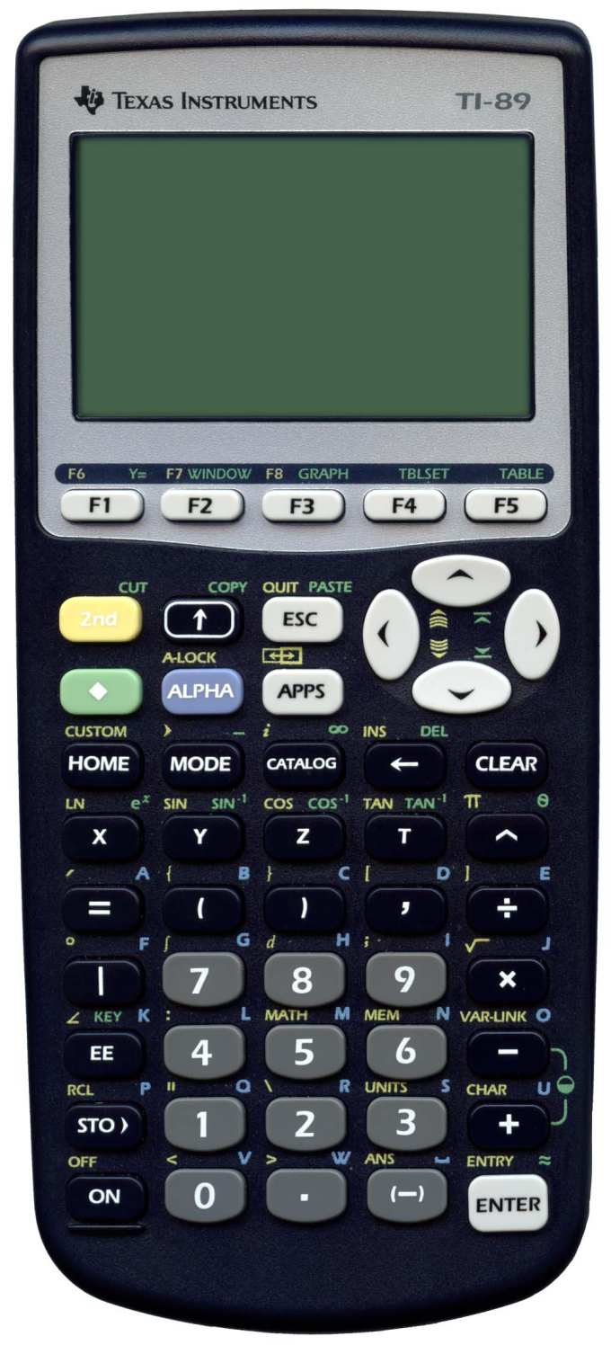 Graphing calculator: Texas Instruments TI-89