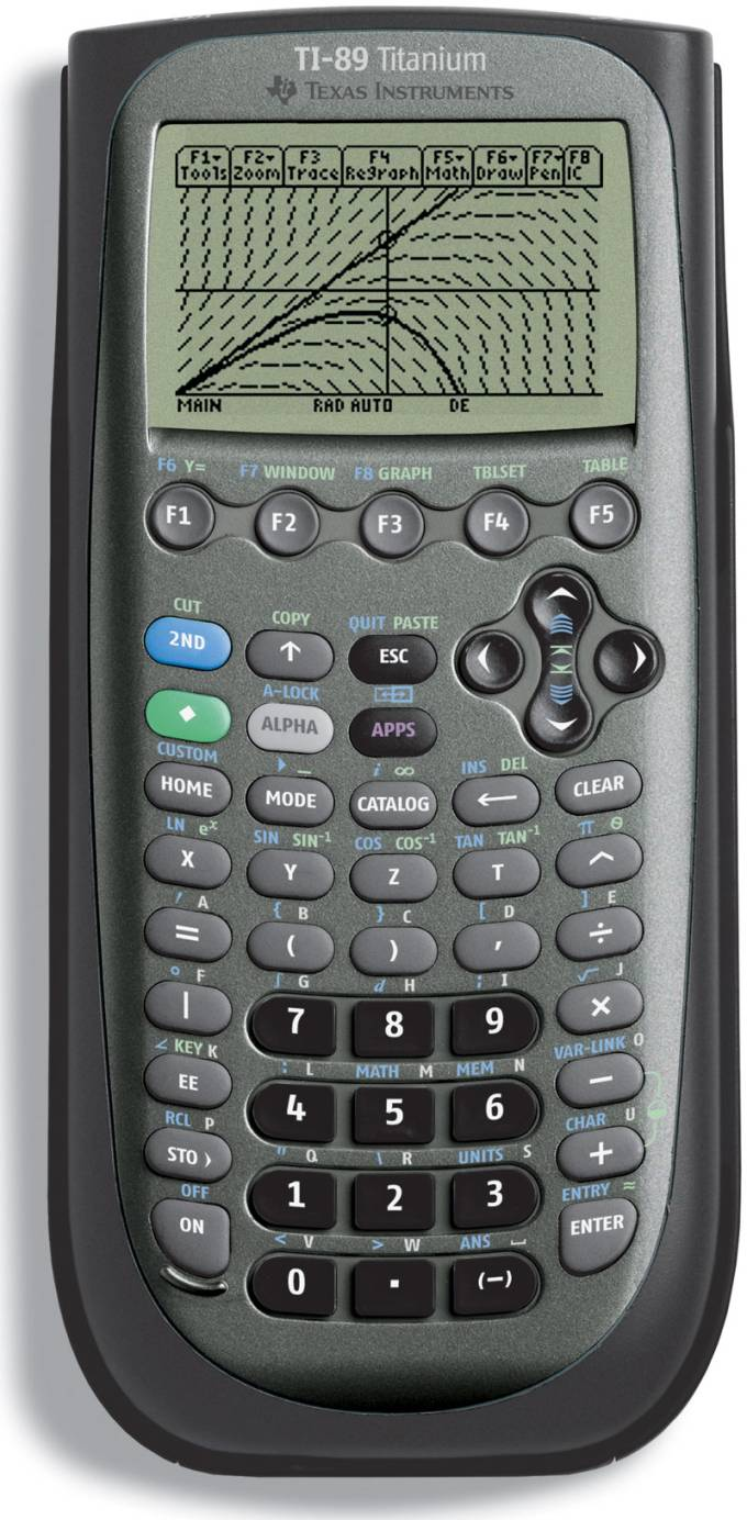 Graphing calculator: Texas Instruments TI-89 Titanium