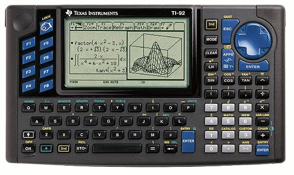Graphing calculator: Texas Instruments TI-92