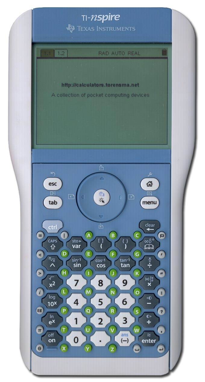 Graphing calculator: Texas Instruments TI-Nspire
