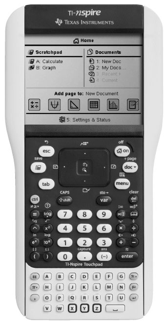 Graphing calculator: Texas Instruments TI-Nspire Touchpad