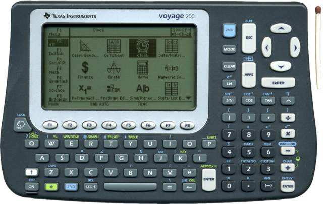 Graphing calculator: Texas Instruments Voyage 200
